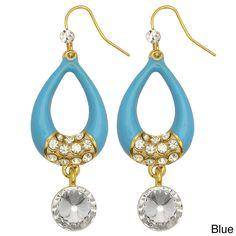 Kate Marie Goldtone Rhinestone 'Rita' Fashion Earrings, Women's