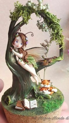 Elves And Fairies, Clay Fairies, Fairy Crafts, Garden Crafts, Clay Wall Art, Clay Art, Kids Fairy Garden, Clay Fairy House, Fairy Paintings