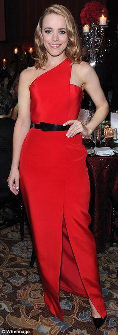 Rachel McAdams's red dress