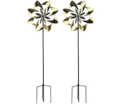 Plow & Hearth Set of 2 Flower Garden Spinners - sparkle and shine until my flowers come in