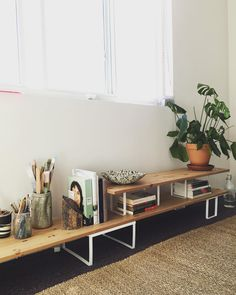 @ikeausa run for the studio today. 5 variera risers and 3 wooden shelves. (at Inglewood, California)