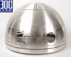 """The Dome for includes an outer aluminum dome laser cut to official club specs, an uncut inner aluminum dome and a rolled tall aluminum bottom ring and 1 high density plastic inner bearing adapter ring designed around the """"Rockler bearing"""" Star Wars Crafts, Star Wars Art, Build Your Own Robot, Star Wars Helmet, Star Wars Bedroom, Star Wars Concept Art, Star Wars Droids, Star Wars Models, Star Wars Costumes"""