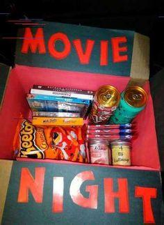 Ideas Birthday Surprise For Girlfriend Creative Cute Ideas For 201940 Ideas Birthday Surprise For Girlfriend Creative Cute Ideas For 2019 I'm sending you this when you go to college - - Regala una caja con lo esencial para una noche de peli . Surprises For Your Boyfriend, Surprise Boyfriend Gifts, Birthday Surprise For Girlfriend, Diy Gifts For Girlfriend, Birthday Gifts For Boyfriend, Man Birthday, Boyfriend Ideas, Birthday Parties, Surprise Birthday