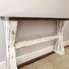 Skinny Sofa Table Small Table Apartment Side Table