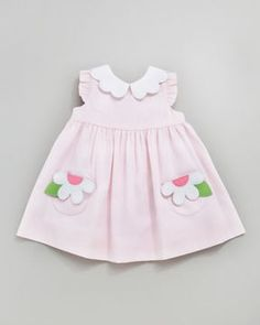 ShopStyle.com: Florence Eiseman Plain Pincord Dress with Daisy Pockets, Light Pink, 12-24 Months $82.00