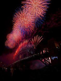 New Year's fireworks in Sydney, Australia