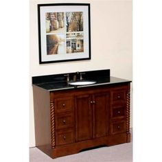 """WLF5016 48"""" Single Sink Vanity with Soft Close Doors - 48"""" Single sink vanity with soft closing doors; six drawers. Please note that this product is a vanity cabinet only. Countertop/Backsplash and sink sold separately."""