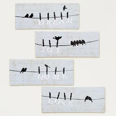 One of my favorite discoveries at WorldMarket.com: Bird on a Wire, Set of 4