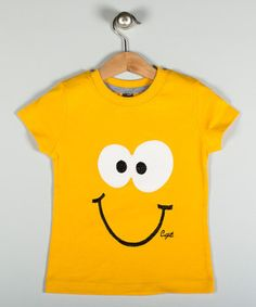 Another great find on #zulily! Cigit Kids Yellow Smiley Face Tee - Infant, Toddler & Kids by Cigit Kids #zulilyfinds