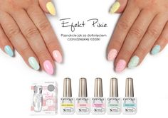 Pixie effect by Nails Company - SWAROVSKY CRYSTAL PIXIE and spring on the nails - Pastelove