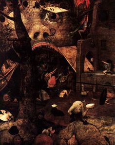 The Visions of Pieter Brueghel the Elder: Dulle Griet (detail