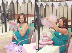 Pink & Gray Baby Shower | The Little Umbrella