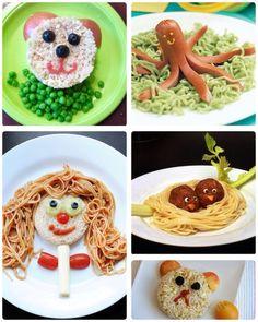 Platillo infantil Cute Food, Good Food, Baby Food Recipes, Cooking Recipes, Best Diet Foods, Food Art For Kids, Kids Plates, Health Breakfast, Lunch Snacks