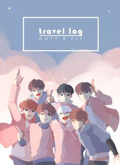 Travel log x Fly Got7 Fanart, Kpop Fanart, Crazy Wallpaper, Bts Wallpaper, K Pop, Jaebum Got7, Yugyeom, Got7 Mark Tuan, Dibujos Cute