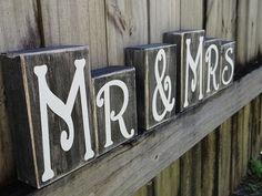 Mr & Mrs Decorative Block Letters / Wedding by NicsLoveLetters, $42.00