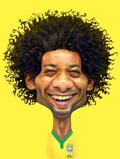 MARCELO – Caricaturas para o pôster da Seleção Brasileira