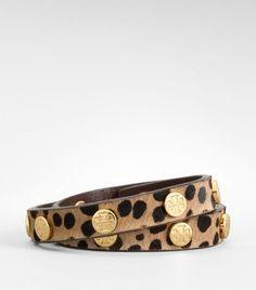 Tory Burch animal print wrap bracelet