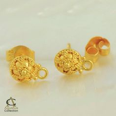 Only a very few samples of the thousands of 22K Gold bead and finding designs, we have made so far.    Custom orders welcome! However, please understand that custom orders of single quantities are not possible.    For any further information's please contact us via  sven@agustuscollection.com     http://www.agustuscollection.com