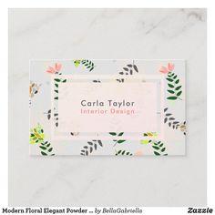 Shop Modern Floral Elegant Powder Blue Business Card created by BellaGabriella. Elegant Business Cards, Business Card Size, Professional Business Cards, Business Card Design, Day Up, Flower Patterns, Wedding Planner, Powder, Things To Come