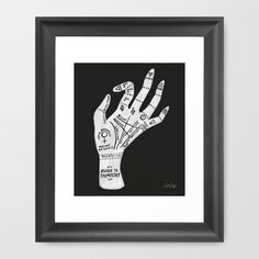 Palm+Reading+Framed+Art+Print+by+Cat+Coquillette+-+$35.00