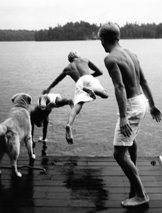 I just love the lake.  This is not my family, but it sure could be!  We have many pics like this one.  Makes me smile.