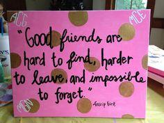 Best Friends Gossip Girl Custom Canvas