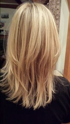 Long layer blonde