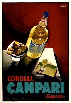 Campari cordial Leonetto Cappiello #poster #ads #vintage