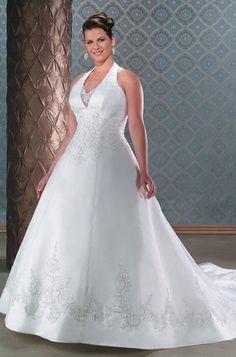 Graceful Halter Embroidery Wedding Apparel #design_your_own_wedding_dress #princess_diana_wedding_dress #maggie_sottero_wedding_dresses