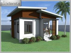 Captivating One Story House with 2 Bedrooms House And Decors Simple Bungalow House Designs, Small Bungalow, Modern Bungalow House, Simple House Design, House Design Photos, Minimalist House Design, Tiny House Design, Modern House Design, Small Modern House Plans