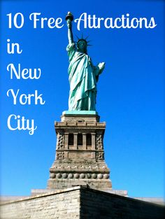 Ten Free Attractions in New York City-- Great tips in a city that can be so expensive!!! Gotta check these out!