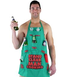 Apron for men who love the grill!
