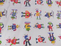 Robot fabric poly Cotton dress material childrens clothes boys shirts  QUARTER METRE Fabric by metre online fabric store fabric by yard Childrens fabric dressmaking girls dresses material for skirts fabric for dresses summer dress fabric home decor robots boys boy fabric 1.13 GBP #goriani