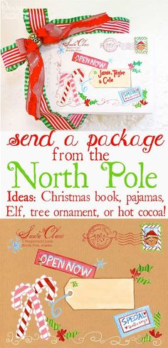 CHRISTMAS EVE BOX: North Pole Special Delivery Labels. Use the labels to send a Christmas PJ's or a Christmas book, etc. Fun tradition to start with your family. Design Dazzle