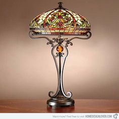 15 Intricate Tiffany Table Lamp Designs | Home Design Lover