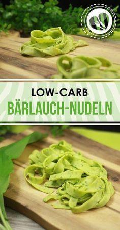 Low-Carb Nudeln aus Bärlauch, Quark und Ei. Super lecker und einfach gemacht. Zudem auch noch glutenfrei. Das ganze Rezept gibt es auf www.schwarzgrueneszebra.de