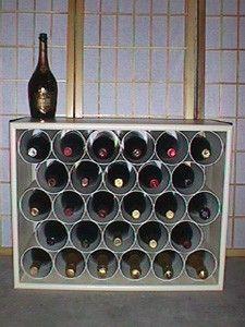 PVC Wine Rack diy-wine-beer-related-crafts