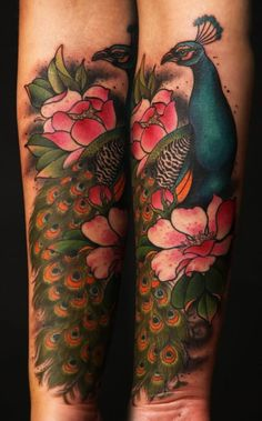 Amazing peacock tattoo