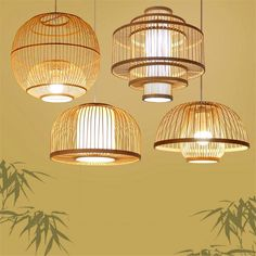 Illuminate your home, office, or restaurant with the stunningly bright Calico pendant hanging light.Made from bamboo wood.Voltage: 90 - in a range of sizes and designs.Light bulbs not includ. Wicker Pendant Light, Led Pendant Lights, Pendant Lamp, Asian Pendant Lighting, Pendant Lighting Bedroom, Light Pendant, Diy Luminaire, Bamboo Light, Bamboo Lamps
