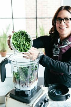 Bobbi Brown's Coconut-Kale Smoothie: *1 cup ice *1 cup coconut milk *¼ cup cocoa powder *2 tablespoons chia seeds *2 scoops of chocolate protein powder *½ frozen banana *handful of frozen cherries *½ to 1 cup of kale, depending on personal taste