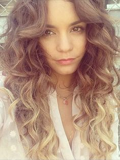 love Vanessa Hudgens curly ombre hairstyle
