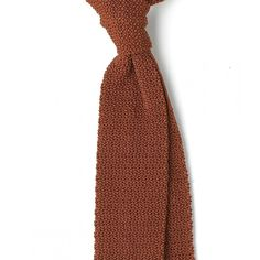 Finest Silk Knitted Solid Colour Tie - View All - Ties - Online Shop - Drake's