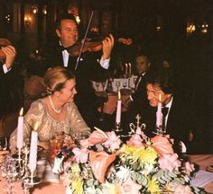 """graceandfamily: """"Princess Grace with her than son-in-law Philippe Junot. """""""