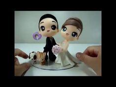 PaP DIY - Buquê de Noiva Fácil BISCUIT *** Aula Virtual Noivinhos Chibi ***
