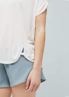 Knot detail t-shirt | MANGO