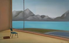 Green chair with a view, by Diana Dzene; oil on canvas , 50cm x 80xm, made in 2021. #art #artwork #paintingoftheday #oiloncanvas #vithaview #mountainpainting #lakecomo #lagodicomo #alpsmountains #greenchair #interiorpainting #renemagritte #edwardhopper #artist #saatchiartist #saatchiart #landscape @saatchiart #createmagazine #artshesays #artmaze Art Students League, Rene Magritte, Mountain Paintings, Lower Manhattan, Beach Town, Lake Como, Old Master, Oil Paintings, Oil On Canvas