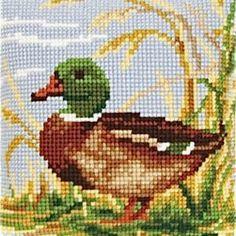 Duck mallard cross stitch.