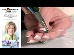 Video Tutorial - How to Make a Briolette Wrapped Loop - Fire Mountain Gems and Beads