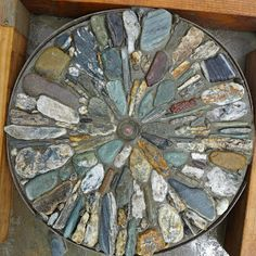 A stepping stone made from beautiful rocks collected from rivers and lakeshores on the south island of New Zealand     My stepping stone...