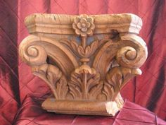Fine Teakwood carved Indian carved Capital